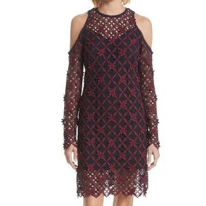 NWT Self portrait floral grid mini dress. US4